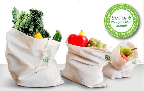 made 1,3 or 6  Reusable Produce Mesh Bags fruit /& vege eco-friendly bag Aust