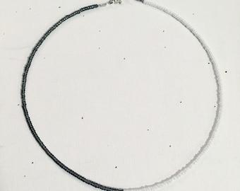 Minimalist beaded necklace