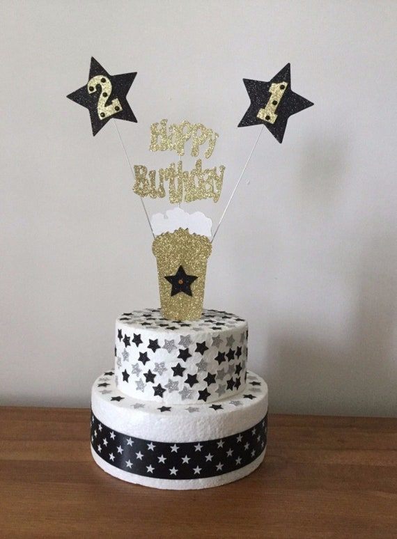 personalised Twin or Double Balloon and Star custom Birthday Cake Topper