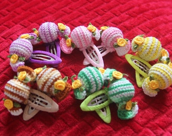 Crochet Candy Hair Clips
