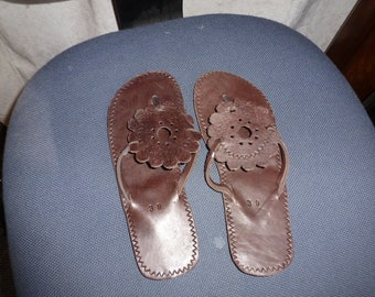 beautiful leather  sandals