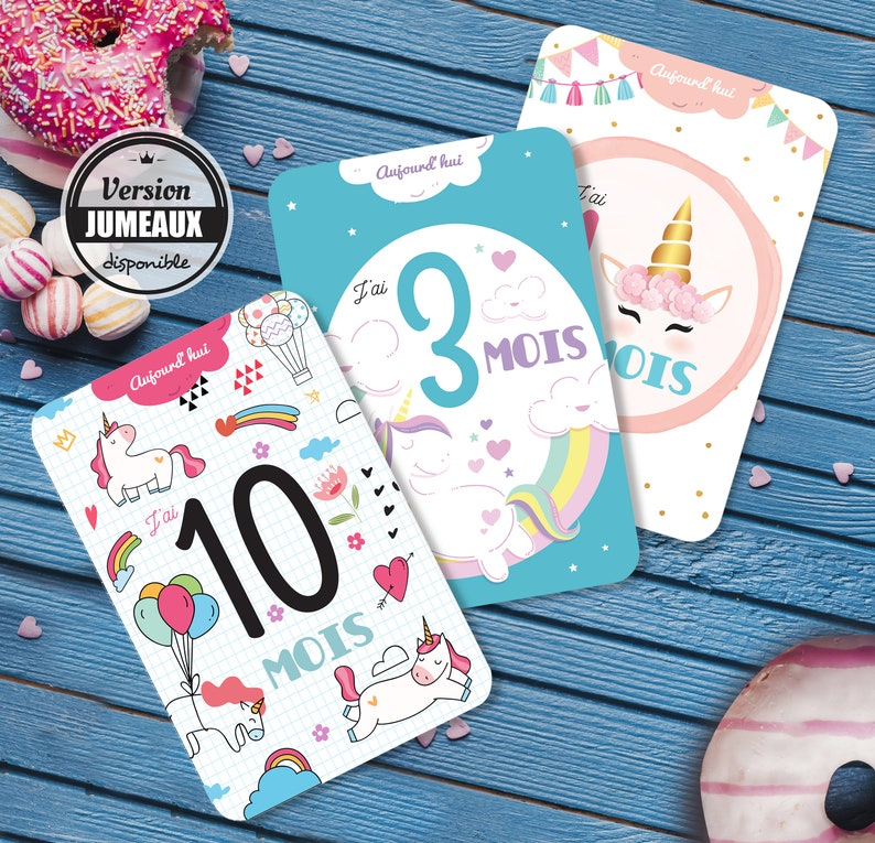 08450dd074d Cards steps steps baby cards theme Unicorn step baby | Etsy