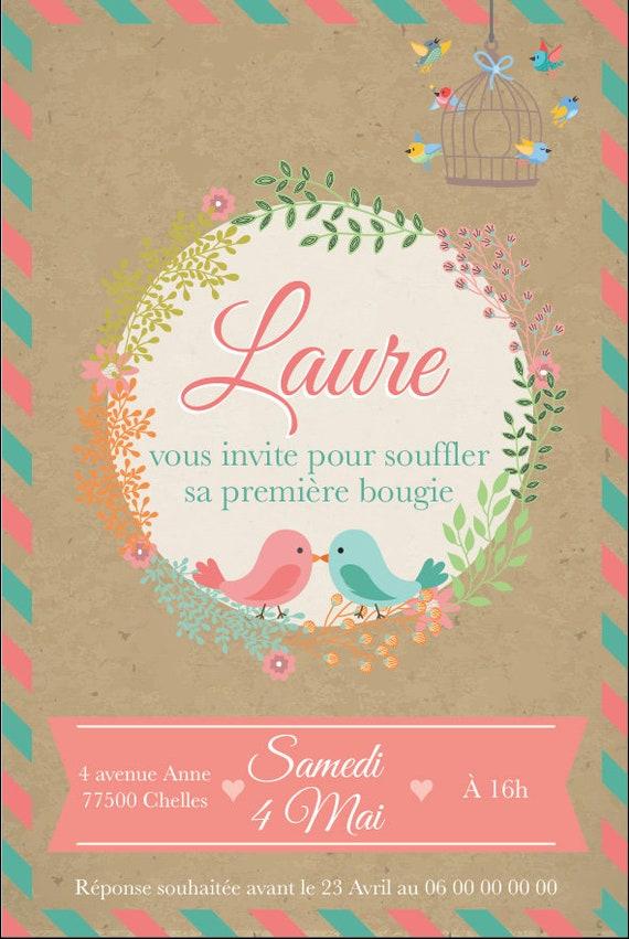 Invitation Anniversaire Fille Carton Invitation Anniversaire Chic Et Rétro Carte Invitation Anniversaire Rétro Papier Haut De Gamme
