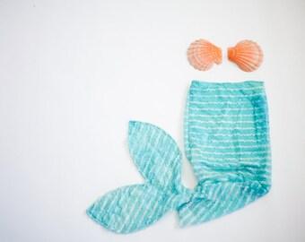Mermaid Ruffle Beach Cover-Up