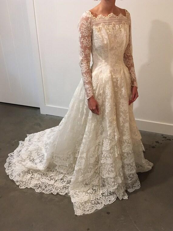 Vintage Lace Wedding Dress Maurer Original
