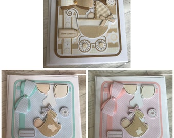 New baby boy/ girl/ neutral expectant cards