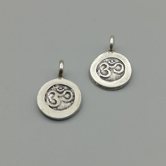 3 Sterling Silver Stamped Hill Tribe Charms 97 Percent Sterling Silver Hill Tribe Charms KC12
