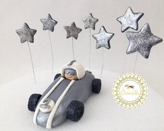 Race Car Cake Topper, Racecar Topper, Fondant Race Car, Edible Race Car