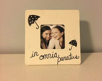 In Omnia Paratus Picture Frame Gift- Ivory & Black (Gilmore Girls)