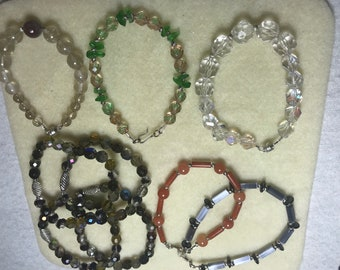 Handmade bracelets/ boho style/stackable/ adjustable/ all sizes and styles