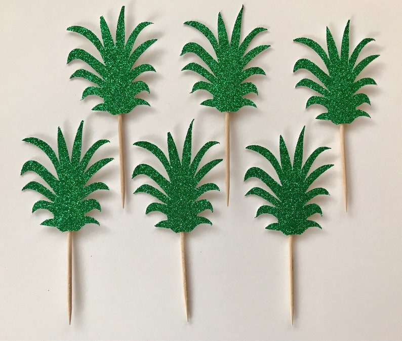 Birthday Party Decor Summer Party Decor Party Decor Bachelorette Party Party Like A Pineapple Donut or Cupcake Toppers Set of 12