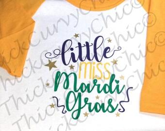 Little Miss Mardi Gras Raglan