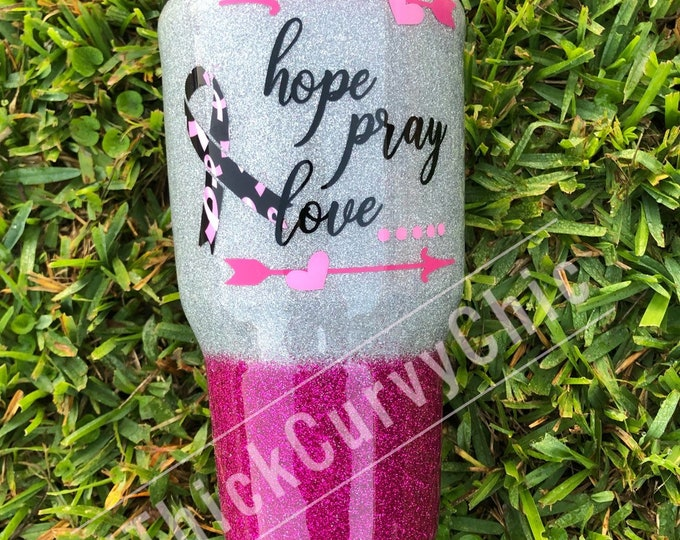 Featured listing image: Hope Pray Love Breast Cancer Tumbler