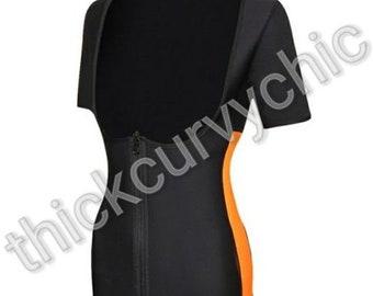 Zip Up Short Sleeve Shaper