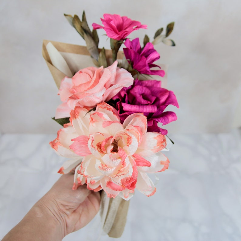 Everlasting Crepe Paper Bouquet as Table or Room Floral image 0
