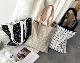 f808ca917c Geometric Canvas Tote Bag