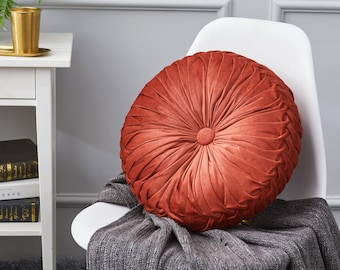 Koly/® Soft Home Office Round Orange Sofa Pillow Plush Dining Cushion Chair Pads Gift