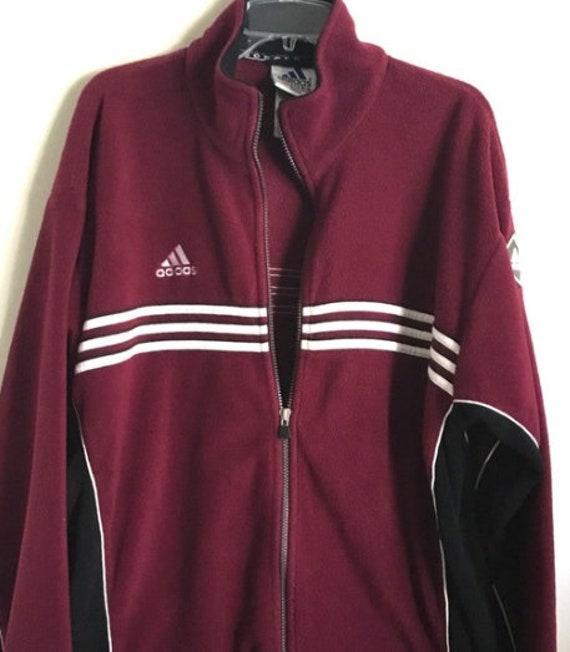 Classic Football Zip Zip 80s Hop Adidas Fleece Hip Full Vintage Large Soccer Streetwear Jacket Jl1FTKc