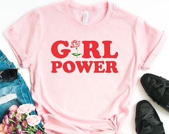 caae96e8 Girl Power Shirt, Girl Power, Girl Power T Shirt, Girl Power Tee, Grl Pwr,  Feminist, Feminism, Feminism Shirt, Feminist Gift, Gift for Her