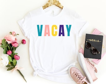3bd9a5616 Vacay shirt. Vacation shirt. Oh hey vacay Friends Vacation. Vacay Mode.  Family Vacation tees. Vacation t shirt. Girls Trip Shirts Matching
