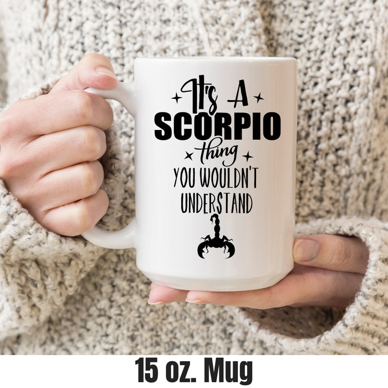 Coffee Mug Scorpio Zodiac Gift For