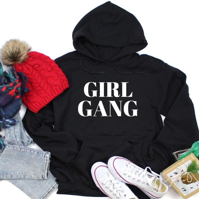 Power Feminist Woman up Kids Unisex Hoodie Girl Gang