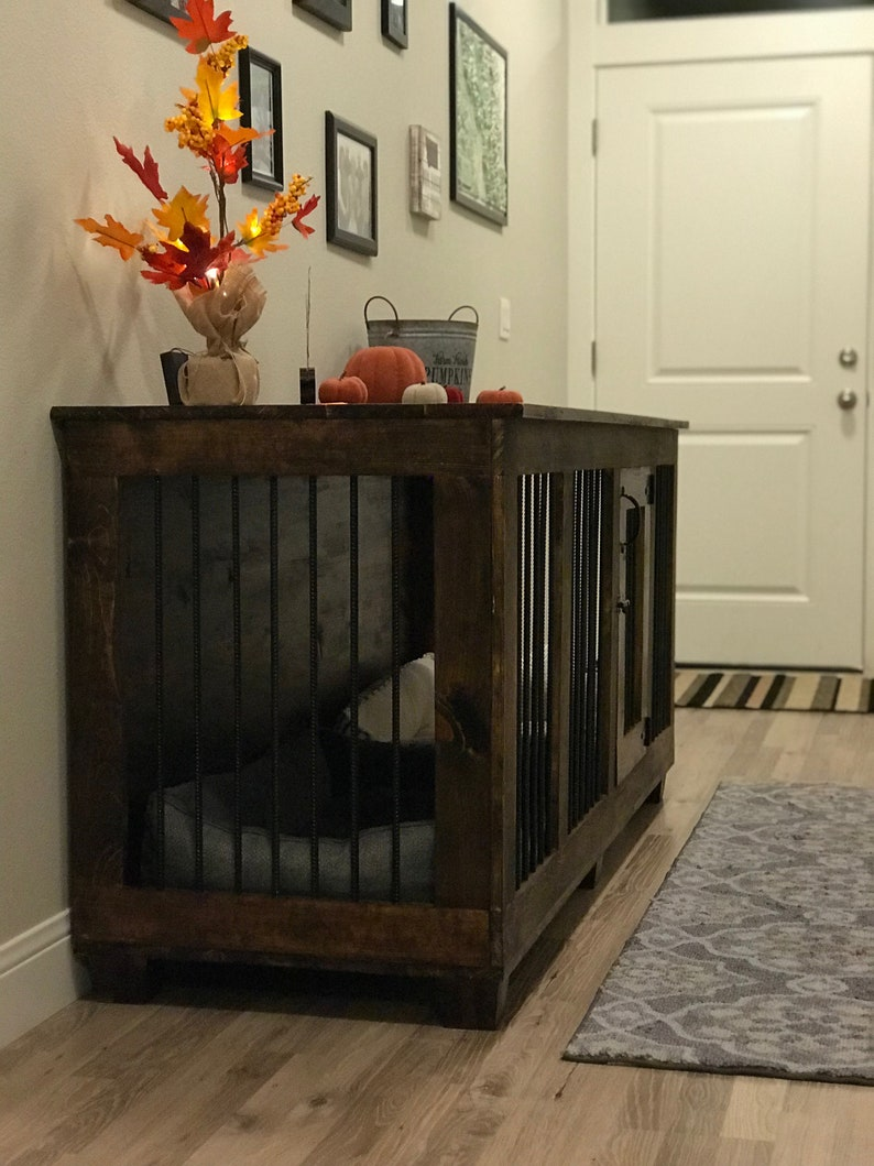 Handcrafted Custom Two Dog Kennel
