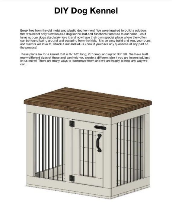 Plans For Your Own Diy Custom Dog Kennel