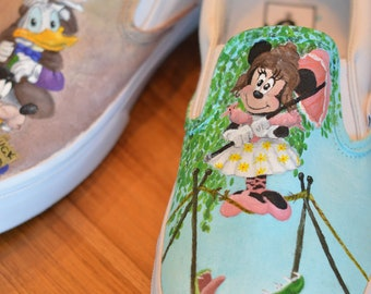 Custom, Hand Painted Canvas Shoes - send in your own shoe Disney Inspired