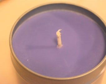 Vanilla Lavender Handmade Soy Tin Candle