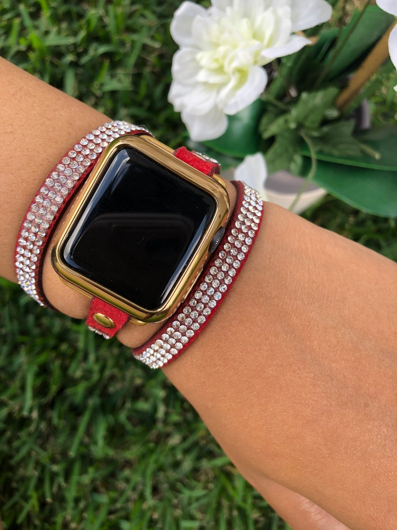 7e9451862 Apple watch band red bling chic apple watch bands Fashion | Etsy