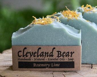 Rosemary-Lime Handmade Soap Essential Oils