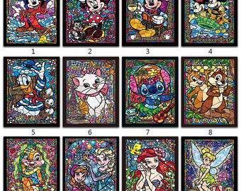 e746157ef9 5D Diamond Painting Kit Disney cartoon Diamond Embroidery Cross Stitch DIY  Resin Rhinestone Mosaic Full Square Round Decor