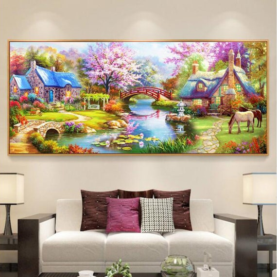 Diy diamond painting full display mosaic embroidery resin rhinestones Green Potted Plants Cactus Kitchen Decoration