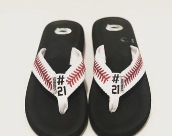 85eb8f7f1785 Softball flip flops