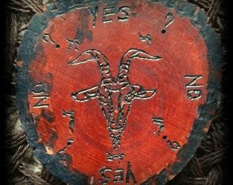 "4.5"" Wooden Goat's Head Pendulum Board   Handmade   One of a Kind"