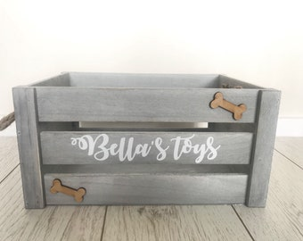 Personalised Pet/Childs toy box rustic crate