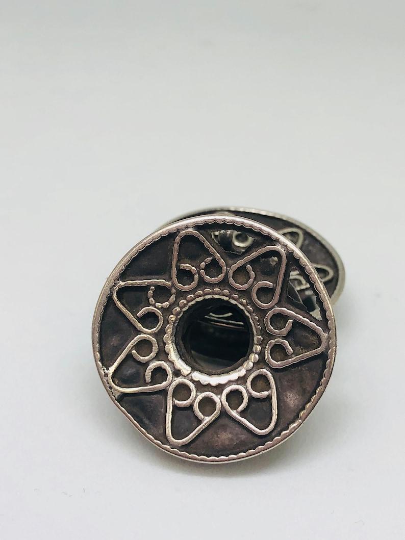 Vintage Silver Tribal Earrings Nomad Jewelry