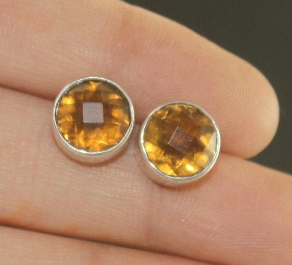 Natural Iolite Stud Earrings  925 Sterling Silver Studs w Backings  Gemstone Studs  September Birthstone  Dainty Posts  Gift Idea ST74