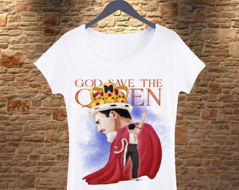 01f7fb454 Freddie Mercury Woman T-shirt