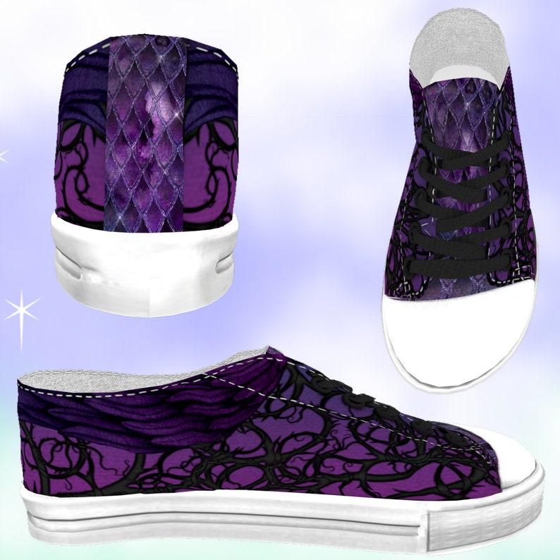 3baaa0bb20383 KIDS Maleficent Inspired Low Top Sneakers Side Wings, kawaii shoes, disney  cosplay, Maleficent party, Maleficent birthday, disney dress