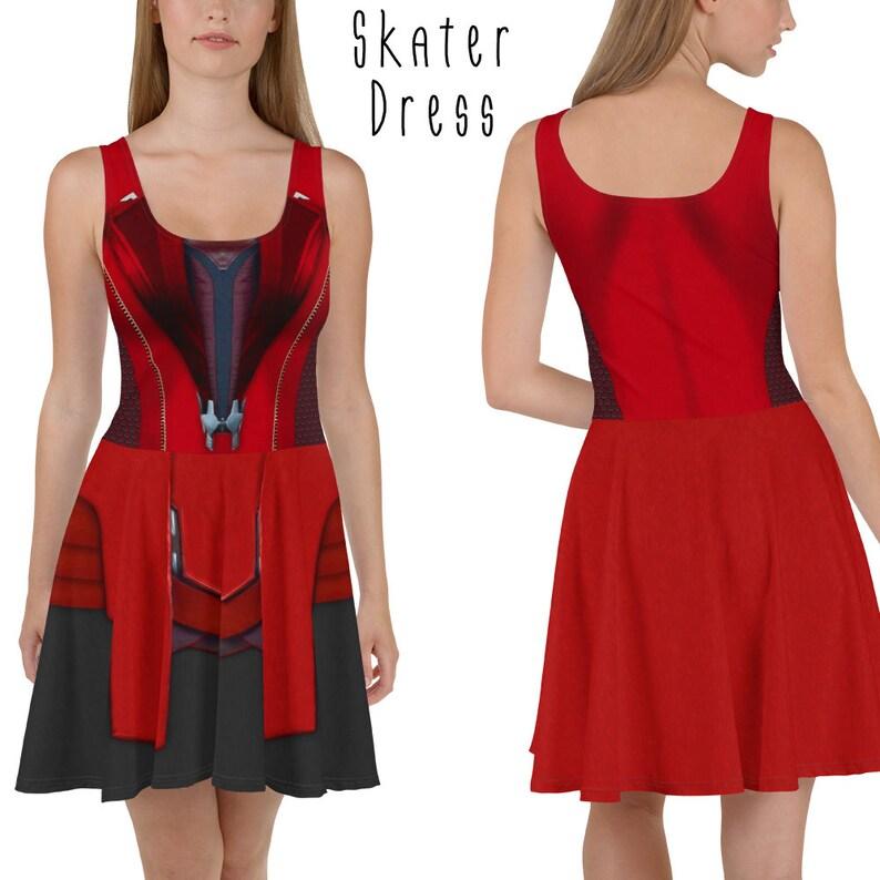 Scarlet Witch Dress XS-3XL  plus size lolita disneybound image 0