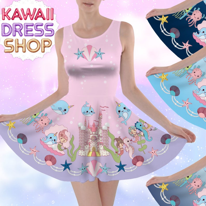 Dream Marine Kingdom JSK Dresses kawaii Skater Dress in | Etsy