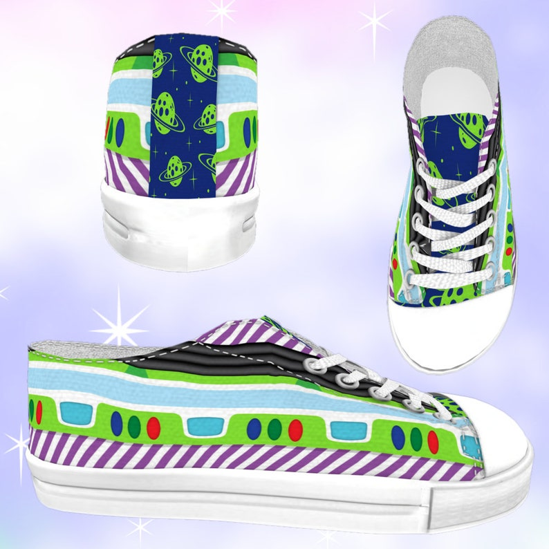 6c2e89a9cfef5 ADULT Space Ranger Low Top Sneakers, disneybounding, disney shoes, toy  story shoes, buzz lightyear, toy story birthday, toy story party