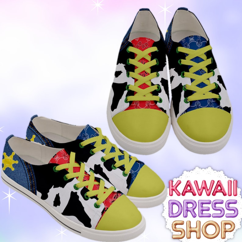 24247f7fd00ff ADULT Toy Land Low Top Sneakers, kawaii shoes, toy story shoes, theme park  shoes, cute shoes, sheriff shoes, woody shoes, jessie shoes