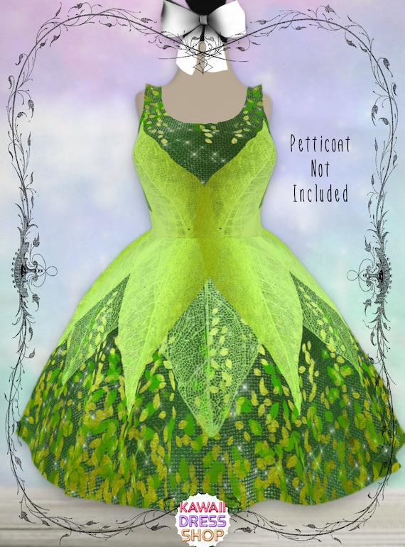 stable quality official photos good looking ADULT Tinkerbell Dress, XS-3XL, plus size lolita, disneybounding,  tinkerbell party, tinkerbell birthday, tinkerbell outfit, fairy