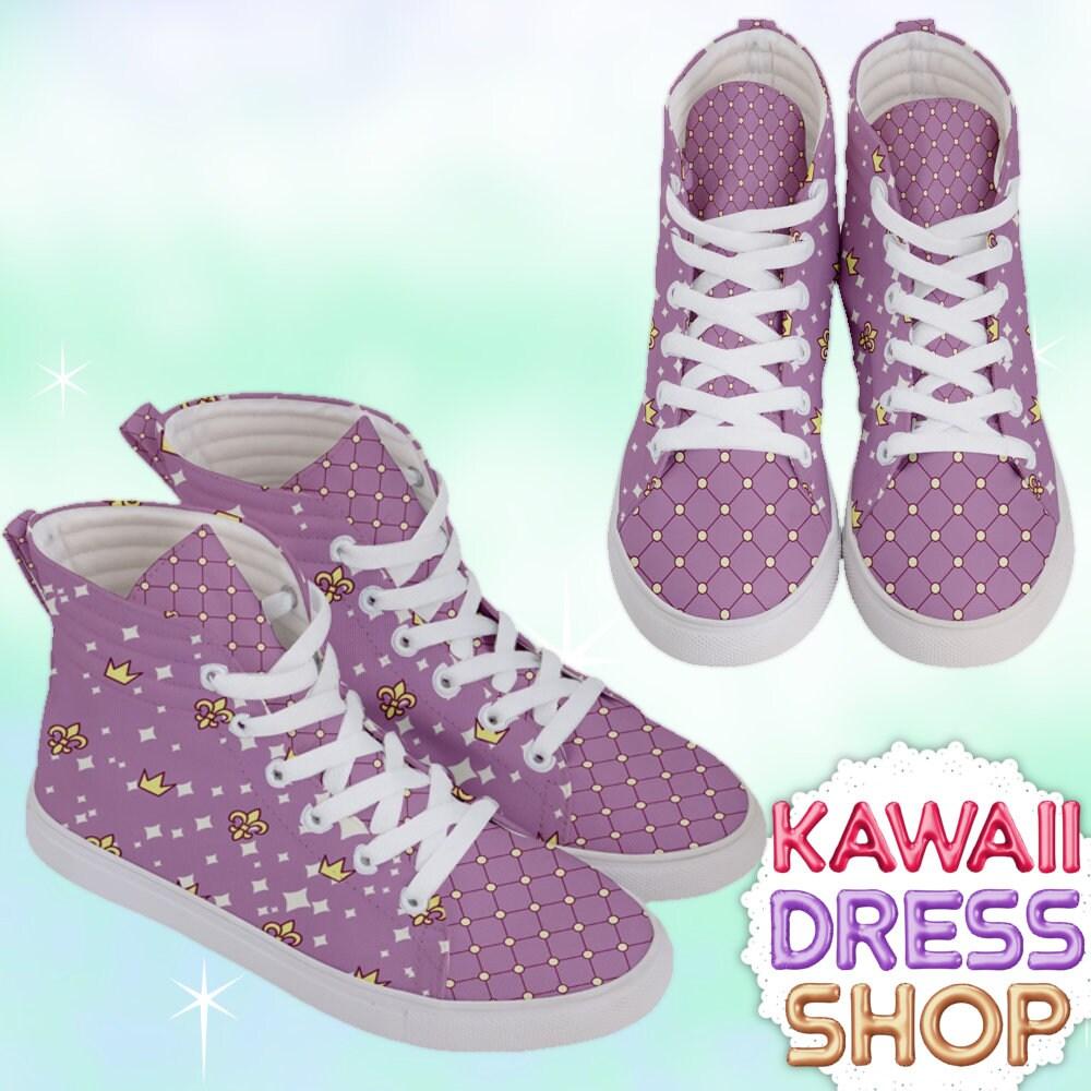Anime Princess Adult High Top Top Top Zapatillas Royals kawaii Zapatos fairy kei Zapatos pastel kawaii Zapatos pastel Zapatos cute Zapatos heart Zapatos 32d89d