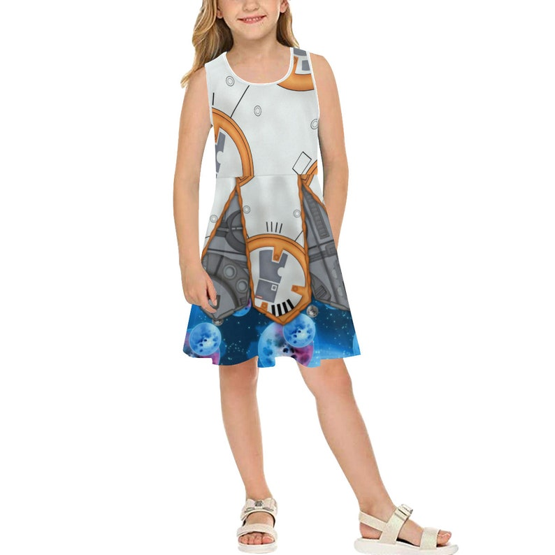 disneybound disney stars wars galaxy edge cosplay costume outfit dress RUSH OPTIONS Kids Space Wars Droids Dress 2T-16