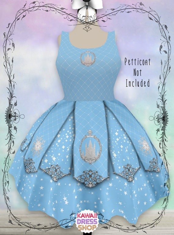 ADULT Snow Queen Dress, XS-5XL, plus size lolita, arendelle aqua,  disneybounding, disney dress, rundisney, disney run, disney cosplay