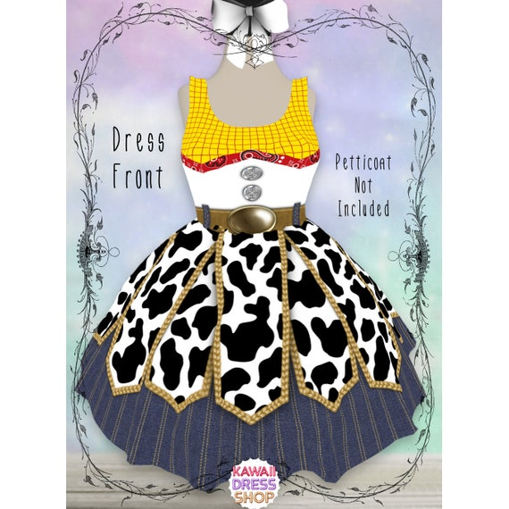 plus size cosplay disneybound run disney run toy story cowgirl jessie rundisney cosplay costume dress RUSH OPTIONS Toy Jessie Dress S-5XL